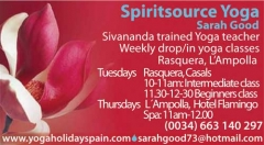 Weekly Yoga Classes Rasquera/L'Ampolla